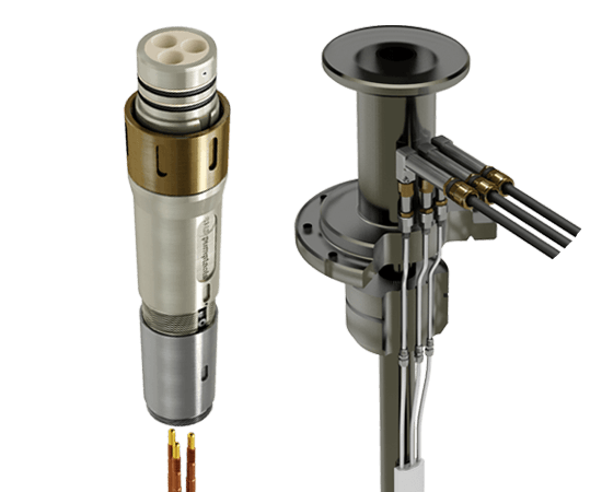 electrical penetrators and connector system